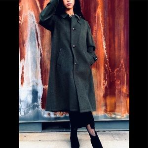 Burberry Loden Wool coat with removable wool liner